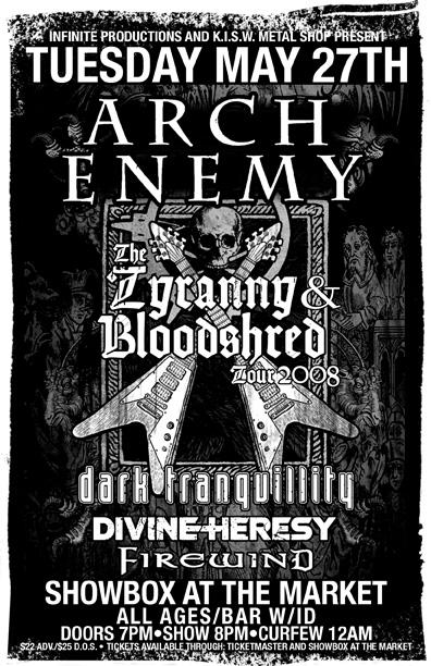 Arch Enemy Flyer